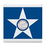 Houston Flag Tile Coaster