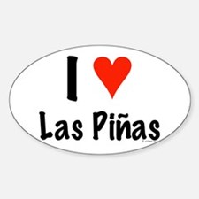 I love Las Piñas Oval Decal