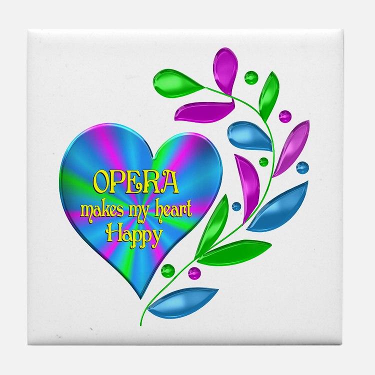 Opera Happy Heart Tile Coaster
