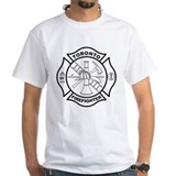Toronto fire Mens White T-shirts