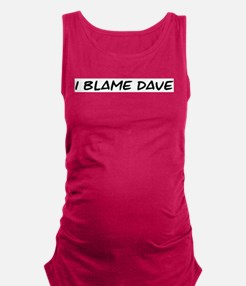 Funny Dave Maternity Tank Top