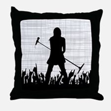 Singer on Stage Grung Throw Pillow