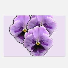Purple Pansies Postcards (Package of 8)