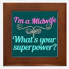 Super Midwife Framed Tile