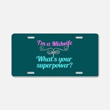 Super Midwife Aluminum License Plate