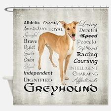 Greyhound Traits Shower Curtain