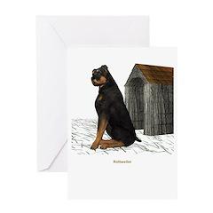 Rottweiler Greeting Card
