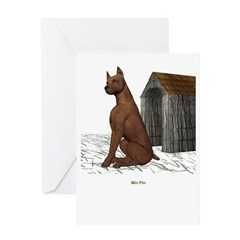 Min Pin Greeting Card