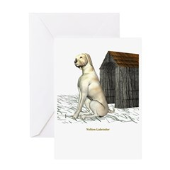 Yellow Labrador Greeting Card