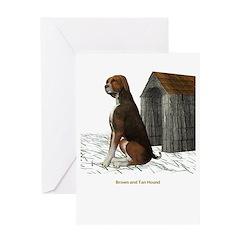Brown N Tan Hound Greeting Card