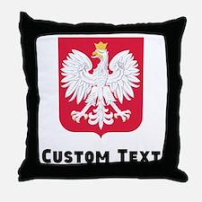 Poland Coat Of Arms Throw Pillow