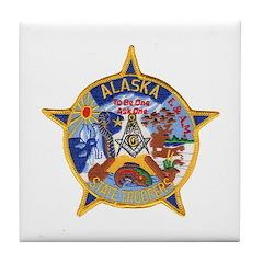 Alaska Trooper Masons Tile Coaster
