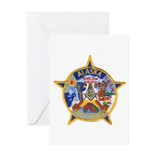 Alaska Trooper Masons Greeting Card