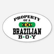 Property of a Brazilian Boy Oval Decal