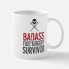 Badass Foot Surgery Survivor Mugs