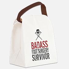 Badass Foot Surgery Survivor Canvas Lunch Bag