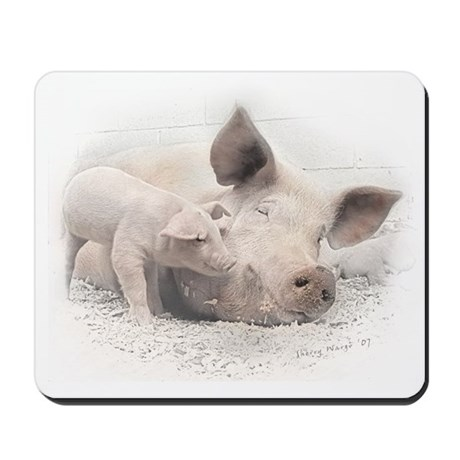 Pig Happy Mousepad