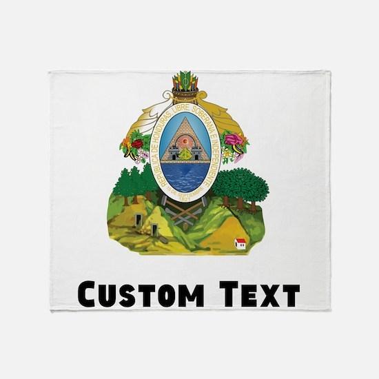 Honduras Coat Of Arms Throw Blanket