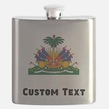Haiti Coat Of Arms Flask