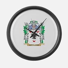 Spitalero Coat of Arms - Family C Large Wall Clock