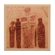 Great Gallery Pictographs Tile Coaster