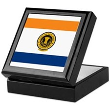 San Jose City Flag Keepsake Box