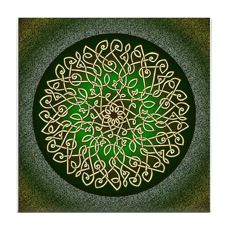 Sage Celtic Burst Tile Coaster