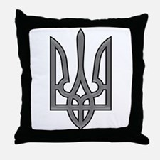 Ukrainian trizub Throw Pillow