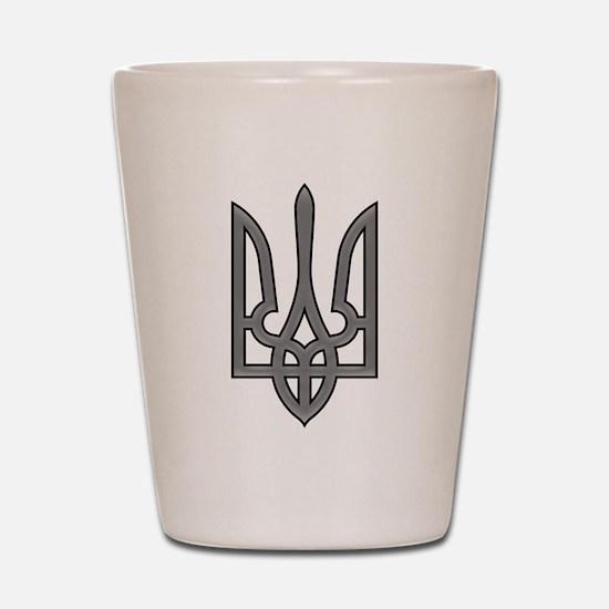 Ukrainian trizub Shot Glass
