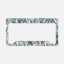 Boho Feathers License Plate Holder