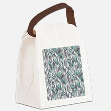 Boho Feathers Canvas Lunch Bag