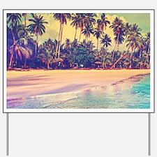 Tropical Island Yard Sign