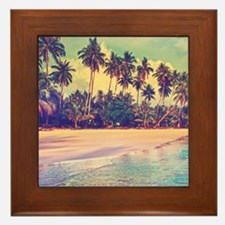 Tropical Island Framed Tile