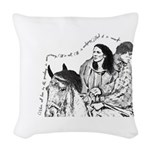 Jamie & Claire Sketch Quotes Woven Throw Pillo