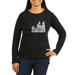 Jamie & Claire Sketch Quotes Design Long Sleeve T-