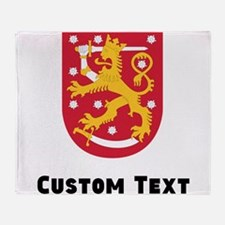 Finland Coat Of Arms Throw Blanket
