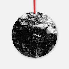 Reflecting Pond (Black & White) Round Ornament