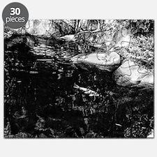 Reflecting Pond (Black & White) Puzzle