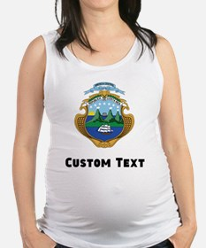 Costa Rica Coat Of Arms Maternity Tank Top