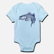 Graphic Striped Bass Body Suit