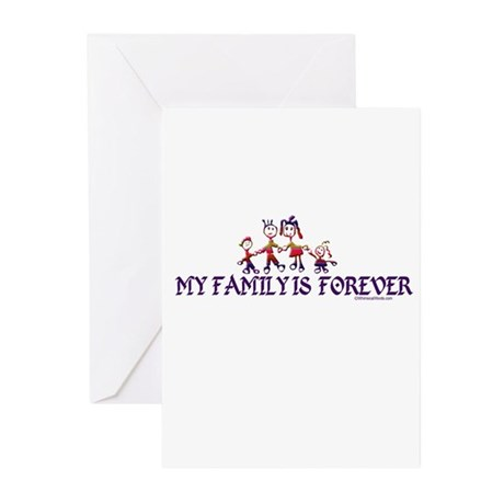 MY FAMILY IS FOREVER Greeting Cards (Pk of 20)