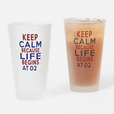 Life Begins At 03 Drinking Glass