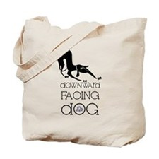 Downward Facing Dog Yoga Tote Bag