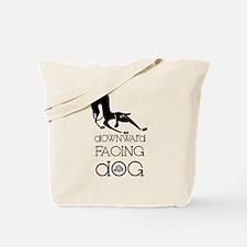 Downward Facing Dog Yoga Tote Bag