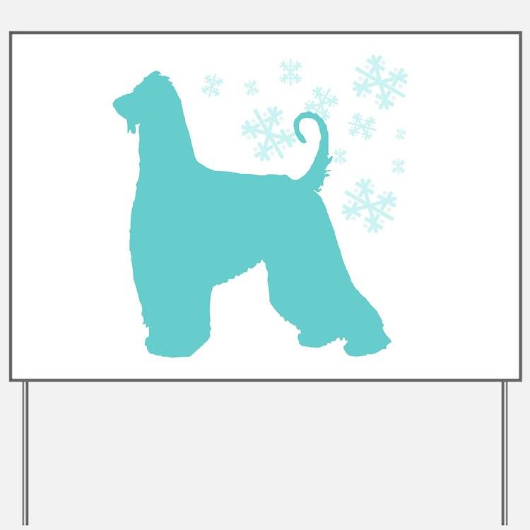 Afghan Hound Snowflake Yard Sign
