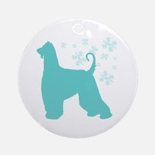 Afghan Hound Snowflake Ornament (Round)