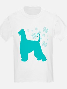 Afghan Hound Snowflake T-Shirt