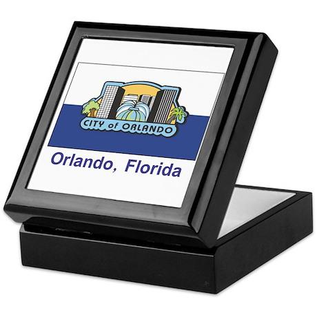 Orlando FL Flag Keepsake Box