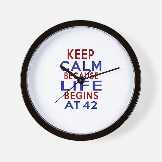 Life Begins At 42 Wall Clock