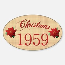 1959 Scrapbooking Christmas Oval Decal